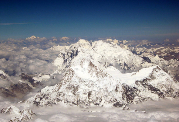 Mt. Everest from an airplane