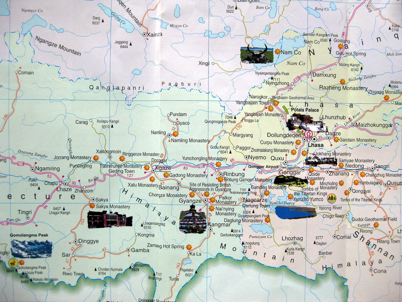 Central Tibet Map