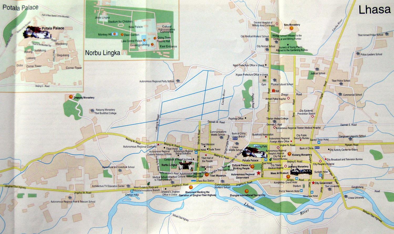 Lhasa city map