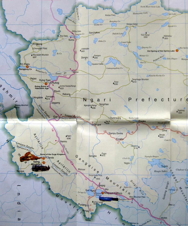 Western Tibet map