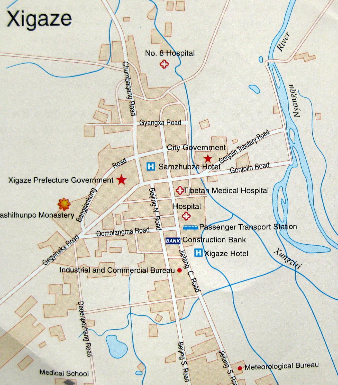 Shigatse, Tibet Map