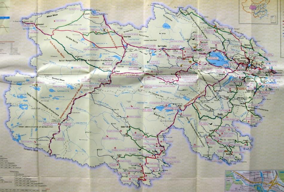 Amdo Qinghai Map